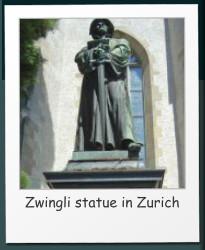 Zwingli statue in Zurich